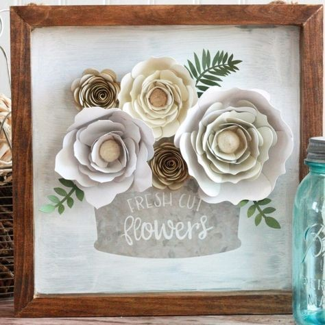 Image result for cricut paper flowers